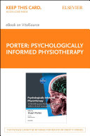 Psychologically Informed Physiotherapy E Book