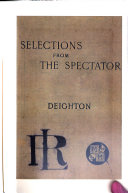 Selections From The Spectator Book PDF