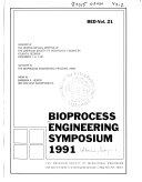 Bioprocess Engineering Symposium  1991 Book