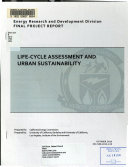 Life cycle Assessment and Urban Sustainability