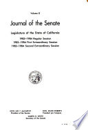 Journal of the Senate  Legislature of the State of California
