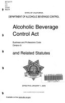 Alcoholic Beverage Control Act and Related Statutes