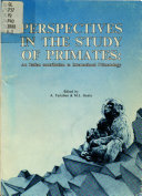 Perspectives in the Study of Primates