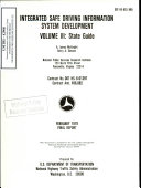 Integrated Safe Driving Information System Development Volume Iii State Guide Final Report