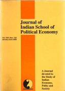 Journal Of Indian School Of Political Economy