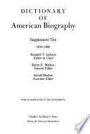 Dictionary of American Biography