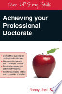 Ebook Achieving Your Professional Doctorate