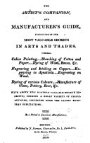 The Artist s Companion  and Manufacturer s Guide