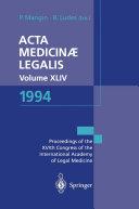 Pdf Acta Medicinæ Legalis. Volume XLIV. 1994 Telecharger
