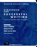Strategies for Successful Writing Book