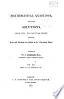 Mathematical Questions and Solutions Book