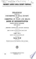 President Carter s Social Security Proposals Book PDF