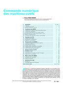 Commande Numerique des Machines-outils ebook