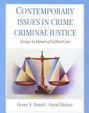 Contemporary Issues in Crime and Criminal Justice