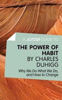 A Joosr Guide To The Power Of Habit By Charles Duhigg