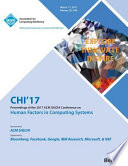 Chi 17 Chi Conference on Human Factors in Computing Systems