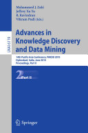 Advances in Knowledge Discovery and Data Mining, Part II