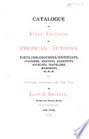 Catalogue of First Editions of American Authors
