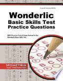 Wonderlic Basic Skills Test Practice Questions