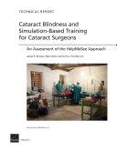 Cataract Blindness and Simulation Based Training for Cataract Surgeons