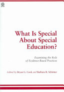What is Special about Special Education