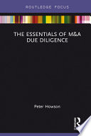 The Essentials of M A Due Diligence Book