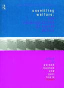Unsettling Welfare Book
