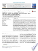 A review of multi criteria decision making applications to solve energy management problems  Two decades from 1995 to 2015