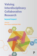 Valuing interdisciplinary collaborative research Pdf/ePub eBook