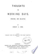 Thoughts for Working Days  Original and Selected Book PDF