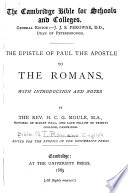 The Epistle of Paul the Apostle to the Romans Book