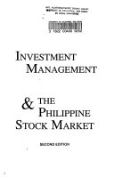Investment Management   the Philippine Stock Market