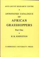 Annotated Catalogue of African Grasshopers