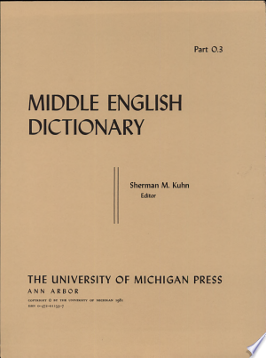 Download Middle English Dictionary Free Books - Dlebooks.net