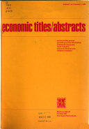 Economic Titles/abstracts