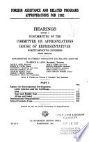 Foreign assistance and related programs appropriations for 1982
