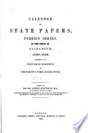 Calendar Of State Papers 1558 1559