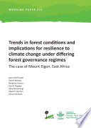 Trends in forest conditions and implications for resilience to climate change under differing forest governance regimes