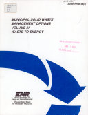 Municipal Solid Waste Management Options  Waste to energy Book