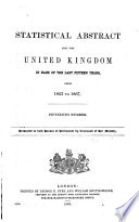 Statistical Abstract for the United Kingdom