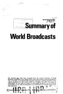 Summary of World Broadcasts Book PDF