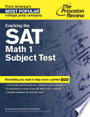 Cracking the SAT Math 1 Subject Test Book