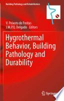 Hygrothermal Behavior  Building Pathology and Durability