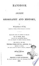 Handbook of Ancient Geography and History by Wilhelm Pu̿tz, Principal Turor at the Gymnasium of Du̿ren