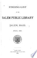 Finding list of the Salem Public Library