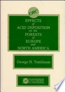 Effects Of Acid Deposition On The Forests Of Europe And North America Book PDF