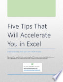 Five Tips That Will Accelerate You in Excel