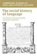 The Social History of Language
