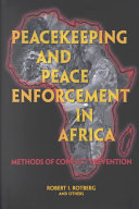 Peacekeeping And Peace Enforcement In Africa