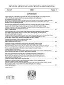 Revista Mexicana de Ciencias Geol  gicas Book